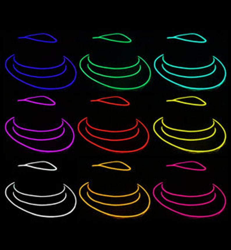 33c4a5c4d8566 Premium Custom Made El Wire Fedora Hats