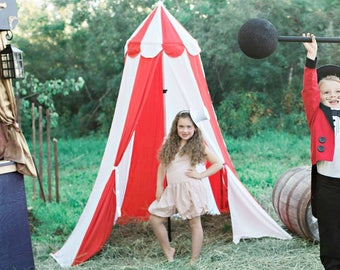 Circus Tent, circus photo prop, summer activities for kids, cosplay, midway tent