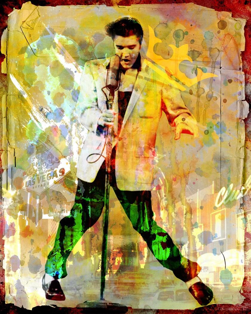 Elvis Presley Art Elvis Original Painting Art Print   Etsy