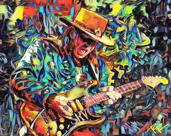 Stevie Ray Vaughan 1984 Poster Art Print