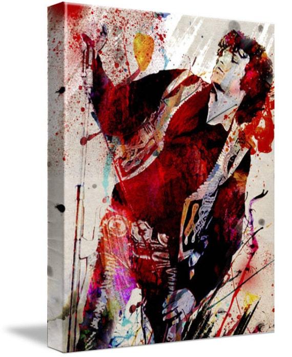 PRONTO DA APPENDERE ARTE ARREDO JIM MORRISON The Doors Stampa su tela CANVAS