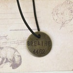 Breathe Charm,  Planner Charms  for Travelers Notebook and Junk Journals, Midori Charms
