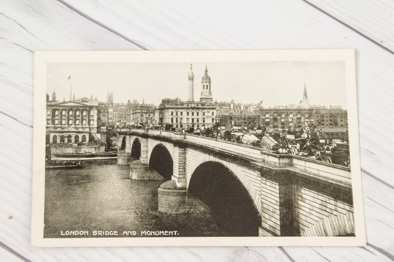 Black And White Postcard From >> Black And White Old Postcard From London England Postcards Etsy