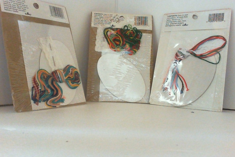 Set of 3 Lace ornaments to cross stitch