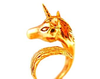 Golden Unicorn Ring