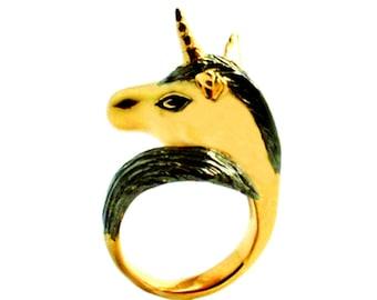 Black Knight Unicorn Ring