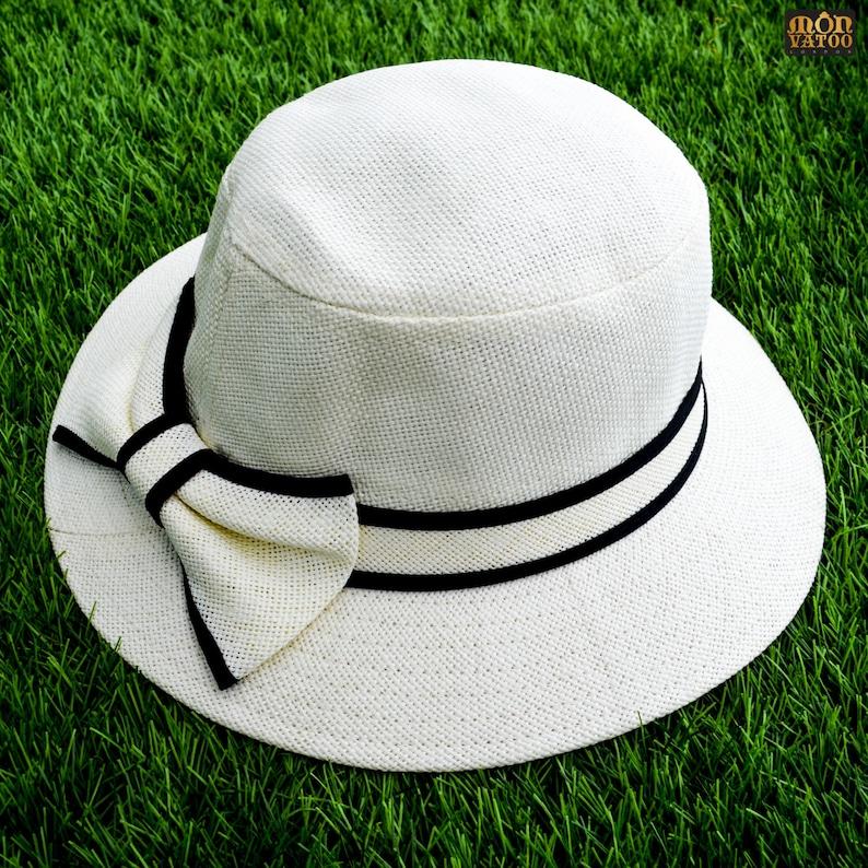 Loyal White Bow Hat