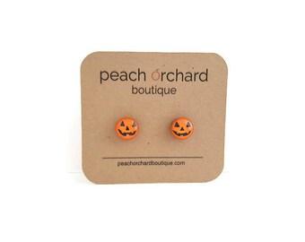 NEW Halloween Jack O' Lantern earrings - Halloween jewelry