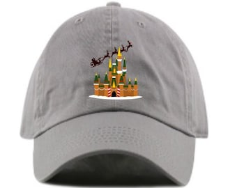 Disney Christmas Gingerbread Castle Baseball Dad hat- Embroidered- Custom  Monogramming available- 12 colors offered! 0e363621e7b7