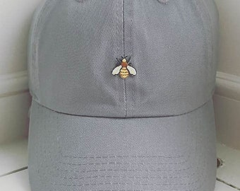 Queen Bee- Wasp Beehive Dad Hat- Custom monogram or embroidery offered! 4dde4587559