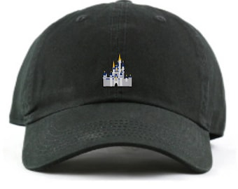 dbef3ab3 Disney World Cinderella Castle Baseball Dad hat - Custom Monogramming  Available- 12 colors available!