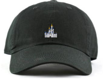 18e747e1c776d Disney World Cinderella Castle Baseball Dad hat - Custom Monogramming  Available- 12 colors available!