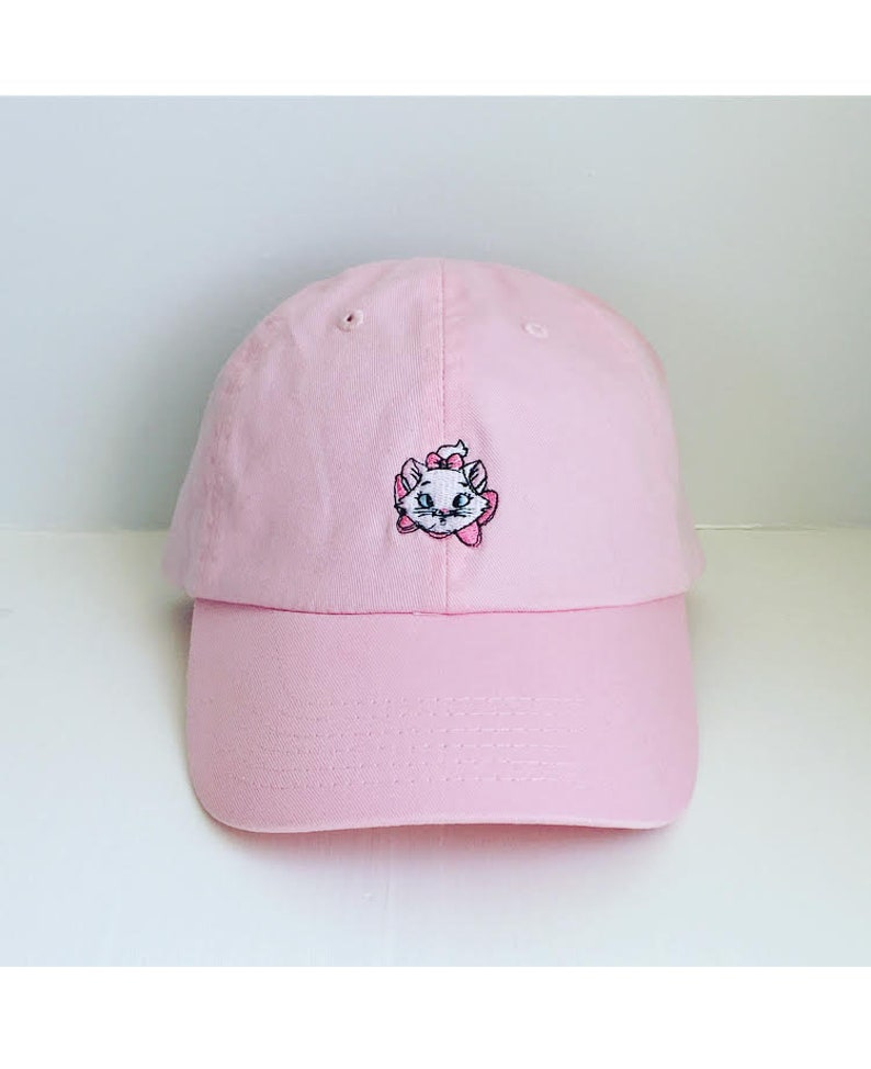 Marie Aristocats Embroidered Disney baseball dad hat  58bb743c800