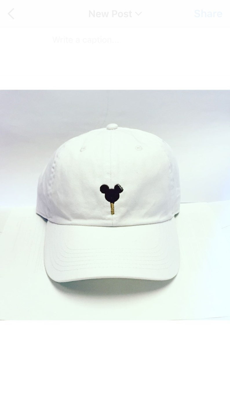 Mickey Ice Cream Bar Baseball hat Disney World Disneyland dad  6cf5e1411a6