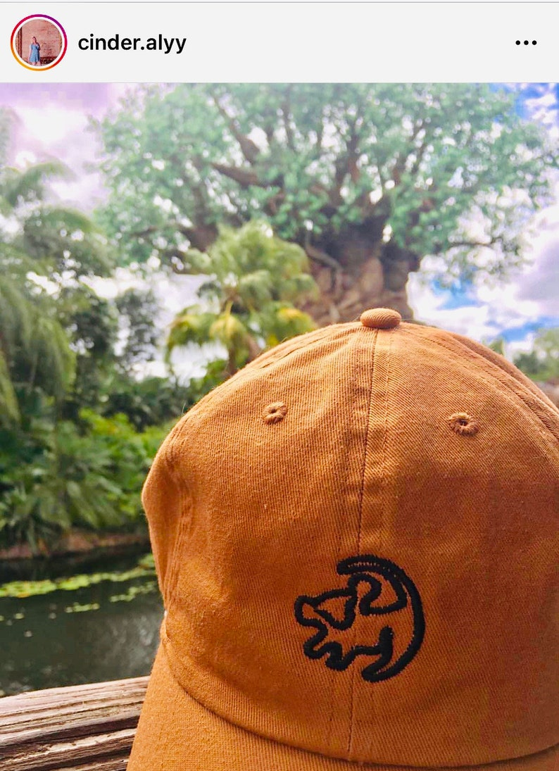 d5c42438f Lion King Simba Outline Embroidered disney baseball dad hat- 13 hat colors,  and monogramming available
