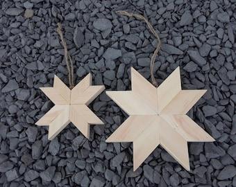 Quilt Star Ornaments