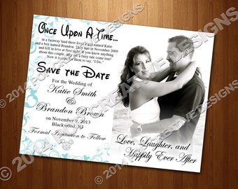 Disney Wedding Save The Date DIY PRINTABLE
