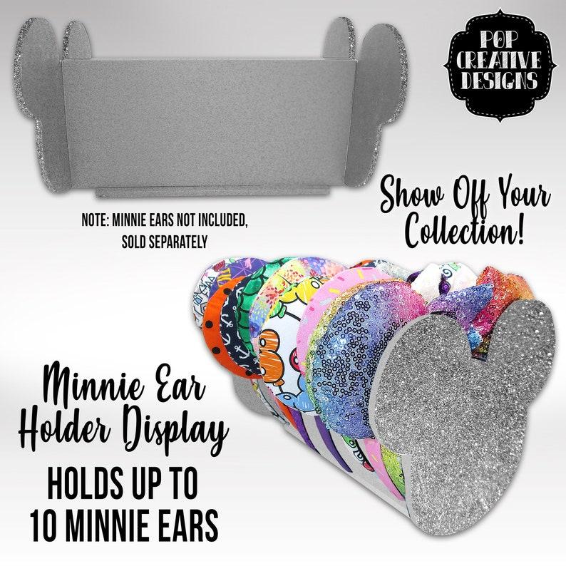 Silver Glitter Minnie Ear Holder Display image 0