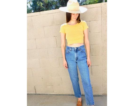 USA Levi's 512 Jeans // vintage medium light wash Levis boho dress denim pants Levi 80s 90s tapered high waist mom jean 6 // S Small 26