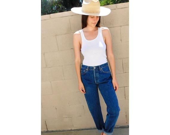 USA Levi's 501 Jeans // USA vintage Levis medium light faded wash Levi 80s 90s hippy 30 X 30 // 26