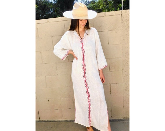 Woven Beach Cover Dress // vintage 70s embroidered off white boho hippie Indian maxi hippy 1970s cotton sun // XS/S