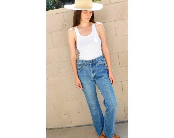 USA Levis 517 Jeans // vintage orange tab Levi's denim boho hippie faded medium dark wash 32 X 33 faded hippy 80s // 28