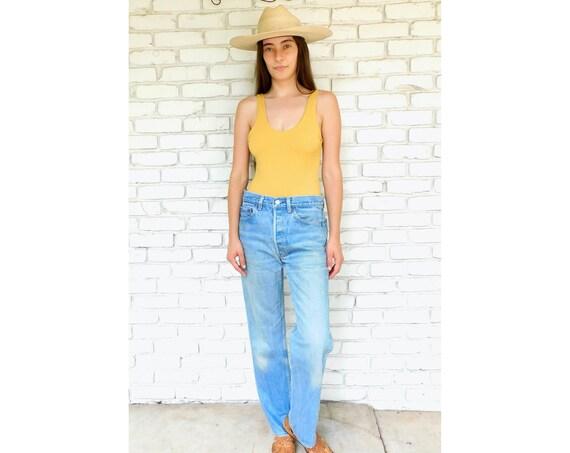 USA Levi's 501xx Jeans // vintage Levis medium light faded wash Levi 80s 90s hippy 32 501 501s