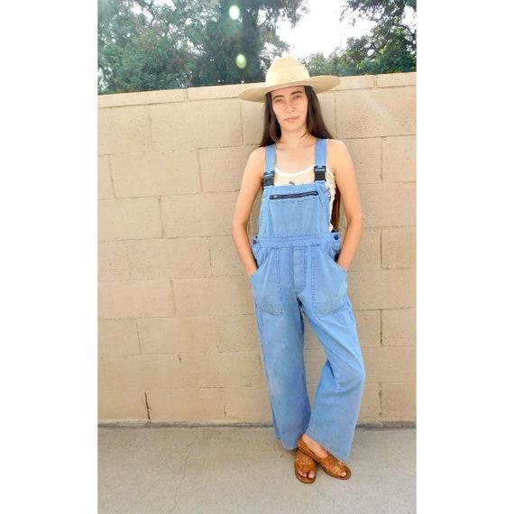 French Chore Overalls // patched vintage 70s denim boho hippie jeans pants dress work wear jumpsuit workwear painter's painters painter O/S