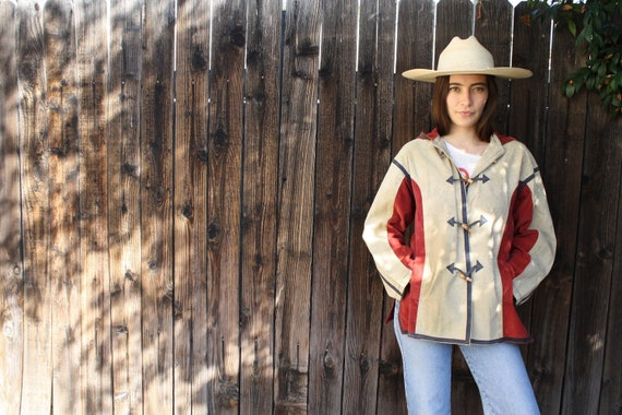 Harrison Jacket // vintage brown rust suede 70s boho hippie corduroy leather dress coat // S/M