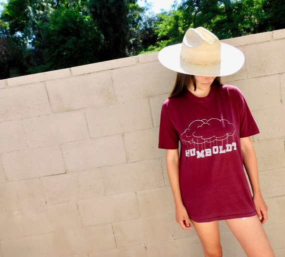 Humboldt Tee // vintage California boho t-shirt t dress hippie hippy cotton 70s 1970s // O/S