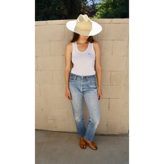Winona Levi's 501 Jeans // vintage USA faded Levis medium light wash Levi 80s 90s hippy 29 X 30 // S Small 26 27