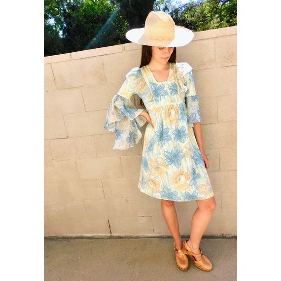 Alabama Dress // vintage 70s cotton boho hippie 19