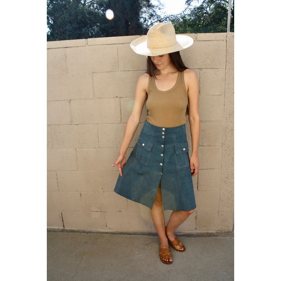 Liverpool Suede Skirt // vintage 60s 70s boho sun