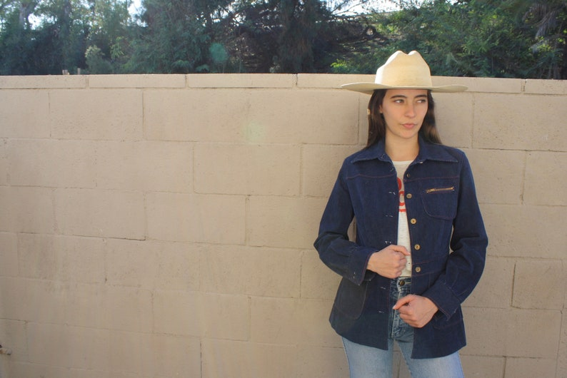 96a78f633 East Nashville Jean Jacket // vintage 70s denim high waist   Etsy