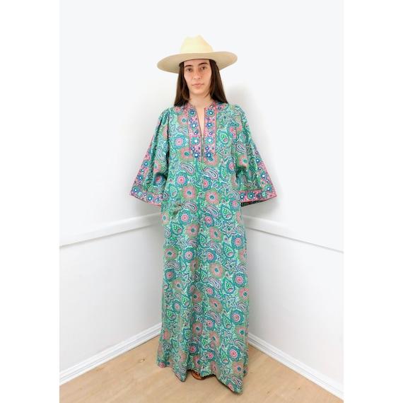 Indian Ramona Rull Dress // vintage 70s boho hippi