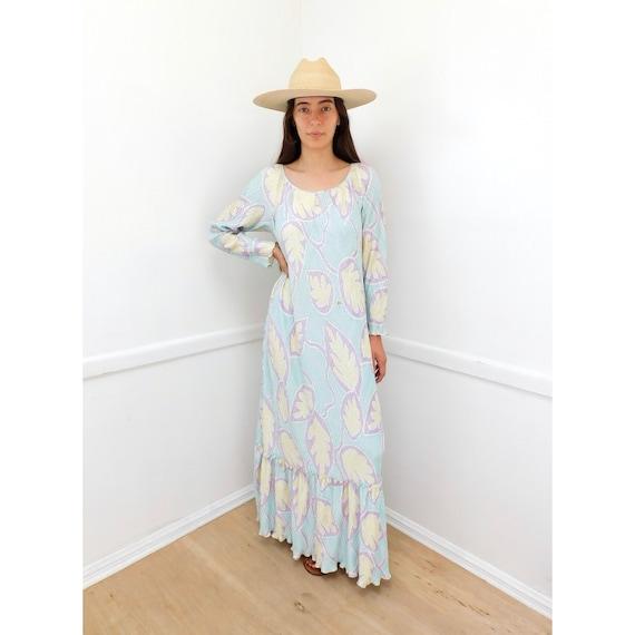 Mary McFadden Dress // vintage sun boho hippie hippy maxi 80s 90s // O/S