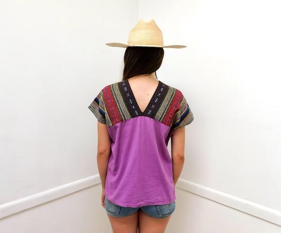 Woven Tunic // vintage 70s dress blouse boho hipp… - image 3