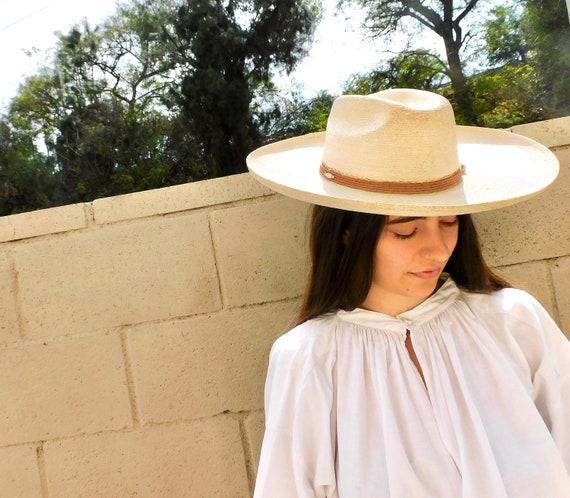 Mexican Straw Western Hat // vintage cowboy 70s boho hippie sun dress // S Small