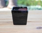 Ceramic Plant Container Black square 2 1 2 inch