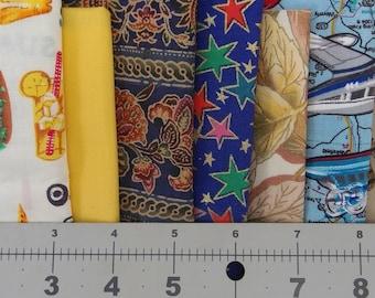 Quilting Fabric - Remnant -Scrap Pieces 100% Cotton 9 Different Patterns