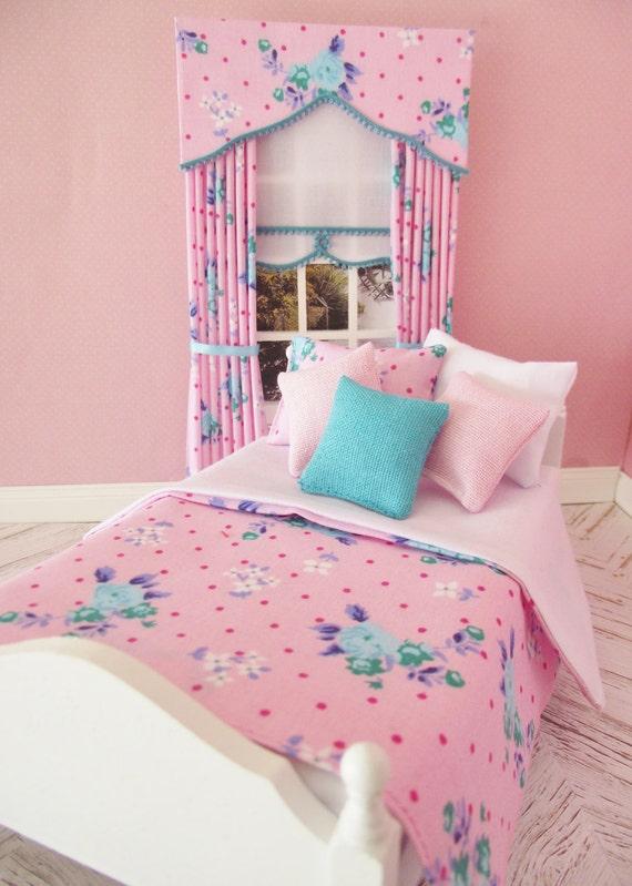 Hecho a mano miniatura escala 1//12th casa de muñecas ropa de cama para una cama doble-Varios