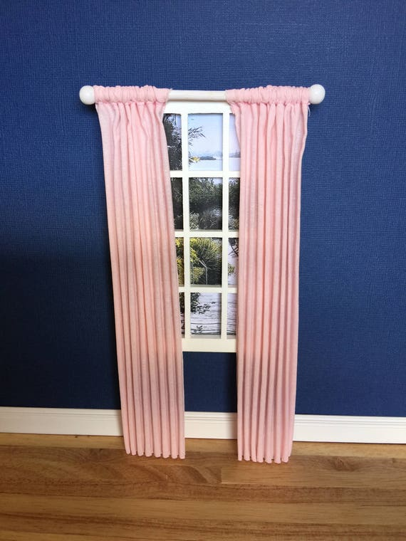 Handmade Miniature 1//12th scale dolls house fixed roller blind Various...
