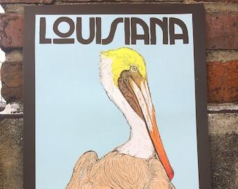 Louisiana Brown Pelican Screen Print