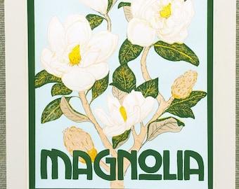 Southern Magnolia Screen Print