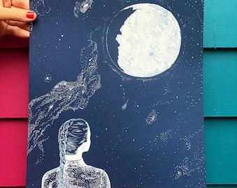 Moon Gaze // silk screen