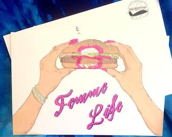 Femme Life Postcard