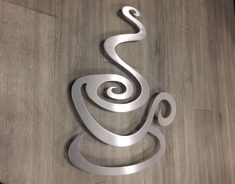 Kaffee Küche Metall Wand Kunst Kaffee Kunst