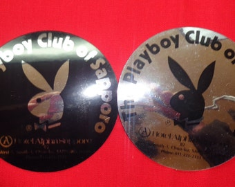 Playboy Sapporo Japan Decal Stickers Silver or Black 1980's