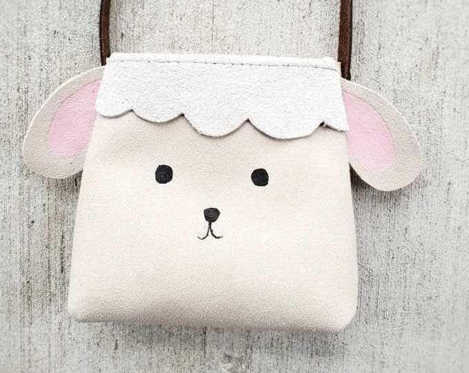 "Mini Messenger toddler purse bag, ""ANIMAL PACK - LAMB"" mini purse, messenger, toddler purse, toddler bag"
