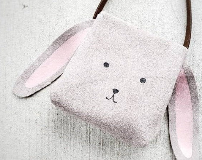 "Mini Messenger toddler purse bag, ""ANIMAL PACK - BUNNY"" mini purse, messenger, toddler purse, toddler bag"